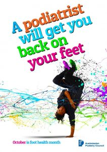 Foot health month - see a Geelong podiatrist